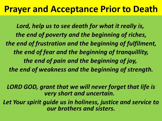 Prayer and Acceptance Prior to Death_19mar29